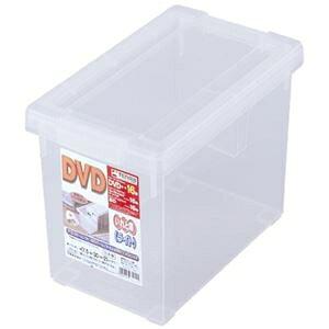 収納ボックス/収納ケース 【DVDサイズ 3個セット クリア】 約幅17.5cm ふた付き いれと庫 ライト 〔書斎 オフィス リビング〕 ds-2348242