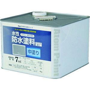 トラスコ中山 アトムペイント 水性防水塗料専用中塗り 8kg グレー tr-2074517