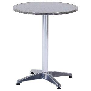 不二貿易 アルミテーブル ラウンドφ60 AC-001 FJ-16990
