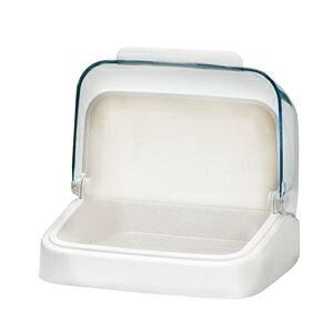【12個セット】 収納ボックス/ストッカー 【ホワイト】 幅22.8cm 透明カバー付き 卓上収納対応 Nフォルマフード 『アスベル』 ds-2394657
