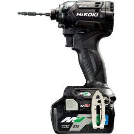 HiKOKI(日立工機) 【職人さん応援キャンペーン!!】【新仕様】36Vインパクトドライバ ストロングブラック 小型軽量化 ビット振れ軽減 リピーターモデル Bluetooth搭載蓄電池2個・ケース付き 充電器別売り WH36DC(2XNBS)