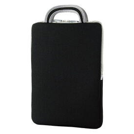 エレコム 子ども用 パソコンケース タブレットケース バッグインバッグ 耐衝撃 取っ手付き 小型 撥水 11.6インチ ブラック BM-IBHPFV11BK