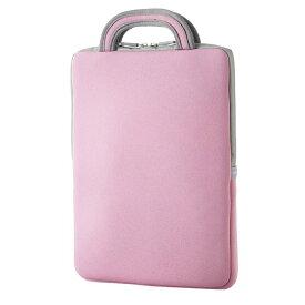 エレコム 子ども用 パソコンケース タブレットケース バッグインバッグ 耐衝撃 取っ手付き 小型 撥水 11.6インチ ピンク BM-IBHPFV11PN