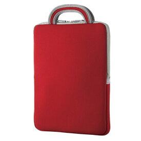 エレコム 子ども用 パソコンケース タブレットケース バッグインバッグ 耐衝撃 取っ手付き 小型 撥水 11.6インチ レッド BM-IBHPFV11RD