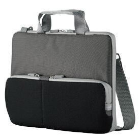 エレコム 子ども用 パソコンケース タブレットケース 肩掛けバッグ ショルダーベルト付 撥水 ネームタグ 11.6インチ ブラック BM-IBHPTS11BK