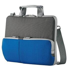 エレコム 子ども用 パソコンケース タブレットケース 肩掛けバッグ ショルダーベルト付き 撥水 ネームタグ 11.6インチ ブルー BM-IBHPTS11BU