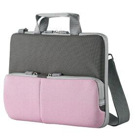 エレコム 子ども用 パソコンケース タブレットケース 肩掛けバッグ ショルダーベルト付き 撥水 ネームタグ 11.6インチ ピンク BM-IBHPTS11PN