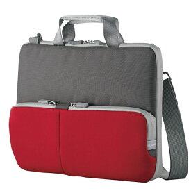 エレコム 子ども用 パソコンケース タブレットケース 肩掛けバッグ ショルダーベルト付き 撥水 ネームタグ 11.6インチ レッド BM-IBHPTS11RD