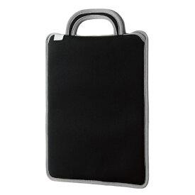 エレコム 子ども用 パソコンケース タブレットケース 取っ手付き スリップイン 薄型 軽量 11.6インチ 撥水 ブラック BM-IBSIV11BK