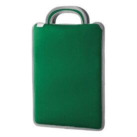 エレコム 子ども用 パソコンケース タブレットケース 取っ手付き スリップイン 薄型 軽量 11.6インチ 撥水 グリーン BM-IBSIV11GN【納期目安:10/18入荷予定】