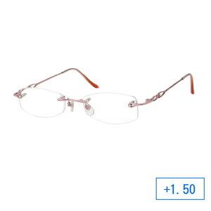 パーフェクトシニアグラス 老眼鏡 RH-401 レディース +1.50 ピンク CMLF-1239557【納期目安:1週間】