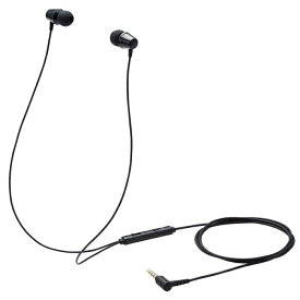 エレコム イヤホン 子供用 両耳 有線 マイク付 高耐久 4極ミニプラグ 低音量仕様 ミュートスイッチ付 ブラック HS-KD05TBK