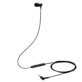 エレコム イヤホン 子供用 片耳 有線 マイク付 高耐久 4極ミニプラグ 低音量仕様 ミュートスイッチ付 ブラック HS-KD06TBK