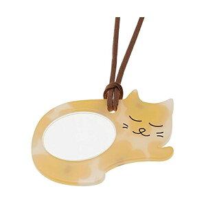 ペンダント型ルーペ 猫(ニャンコ)シリーズ ルーペ寝ニャン PR14-4-WH 072004 CMLF-1263973【納期目安:1週間】