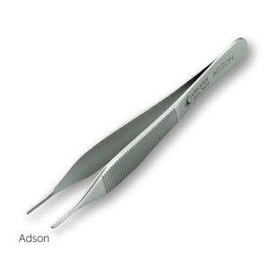 解剖用精密ピンセット 歯なし 122mm Adson 2-9043-01