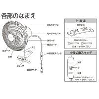 東芝クリップ扇風機TLF-18CL23-W