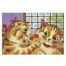 ポストカード ルイス ウェイン 【愛情表現】 世界の名画 イギリス オリジナルポストカード 絵画 アート おしゃれ ポスカ 猫 ネコ ねこ 花