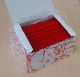 カラーストロー 赤21cm斜カット 130本