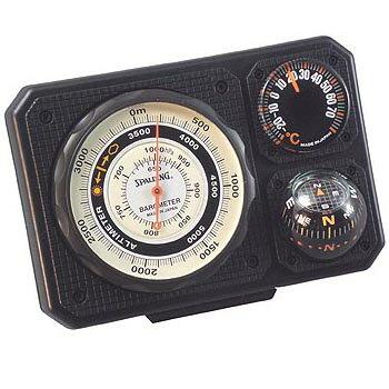 気圧表示付高度計・温度計・コンパス・ミニライト ミザール No.1230【お取り寄せ】