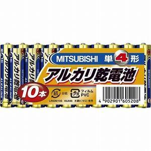 三菱単4アルカリ乾電池10本パックLR03N/10S