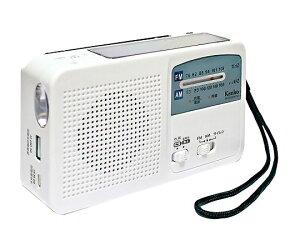 多機能防災ラジオ ライト付で災害時に便利 災害用品 4961607605585