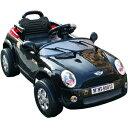 【メーカー直送品・代引き決済不可】電動乗用RC MINI CAR ブラック ミニクーパータイプ