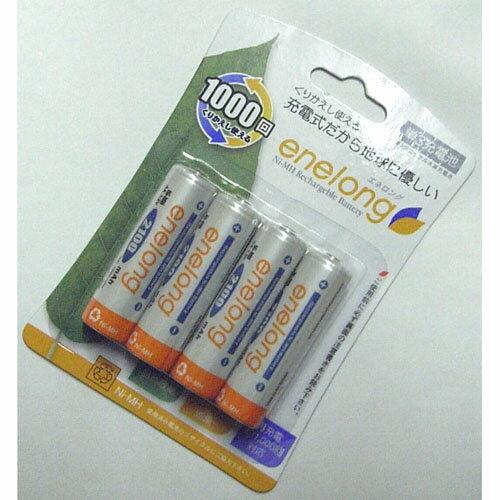 JTT  単3型充電池×4本 enelong エネロング EL21D3P4【メール便専用】
