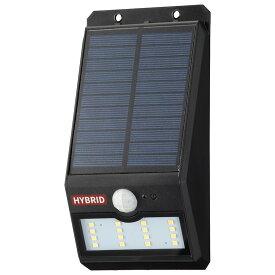 OHM オーム電機 ソーラーセンサーウォールライト400lm 常夜灯付 ブラック LS-SHB140FN4-K