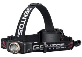 GENTOS LEDヘッドライト Gシリーズ [ANSI規格準拠 作業灯 防災 明るさ300ルーメン 実用点灯6時間 専用充電池または単4乾電池(4個) ANSI規格準拠] ジェントス GH-009RG [送料無料]