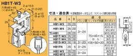 【ポイント最大7倍4/1限定エントリー必須】HB1T-W3 ネグロス 吊り金具 吊りボルト用支持金具(タップ、下部金具付)