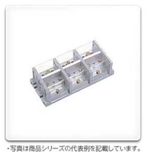 TBJ-063B4 日東工業 固定式分岐端子台(極数3P、4分岐、ポリエステル樹脂製、90A)