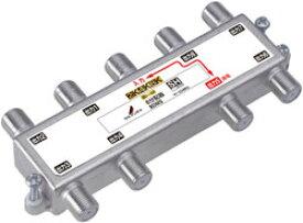 8DMS DXアンテナ 屋内用8分配器[2K・4K・8K対応](1端子通電形)
