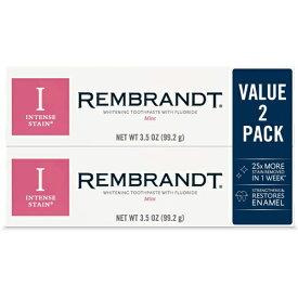レンブラント インテンスステイン ミント 歯磨き粉 3.5oz(99.2g) x 2個 お得パック!(Rembrandt Intense Stain mint) 【MB】