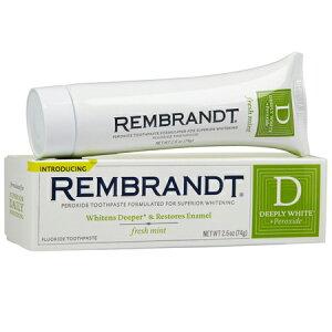 レンブラント ディープリーホワイト フレッシュミント 歯磨き粉 74g(Rembrandt Deeply White fresh mint)【MB】