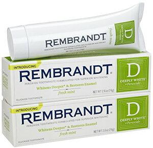 レンブラント ディープリーホワイト フレッシュミント 歯磨き粉 74g x 2個 お得パック!(Rembrandt Deeply White fresh mint) 【MB】