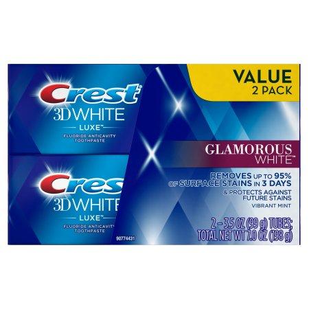 ★クレスト3Dホワイト グラマラスホワイト 歯磨き粉 99g×2 お買い得セット(Crest 3D White Luxe Glamorous White Toothpaste)