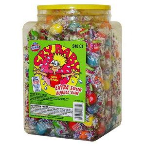 すっぱいガム Cry Baby Extra Sour Bubble Gum 240個入り(個包装)