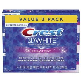 クレスト3Dホワイト ラディアントミント歯磨き粉 116g×3個 お買い得セット (Crest 3D Radiant Mint)【MB】