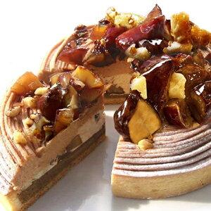 栗とコーヒーのほろ苦タルト16cm ケーキ タルト モンブラン 栗 マロン スイーツ バースデーケーキ 誕生日ケーキ ホールケーキ お取り寄せ ギフト プレゼント 贈り物 大人 誕生日 お取り寄せ