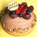 【メッセージプレート付き】木苺のチョコレートバースデーケーキ14cmバースデーケーキ 誕生日ケーキ チョコレートケー…