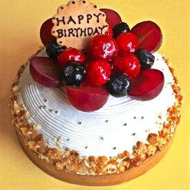 木苺のホワイトバースデーケーキ 苺 ケーキ 14cm バースデーケーキ ホールケーキ 誕生日ケーキ 記念日 スイーツ タルト プレゼント ギフト 御祝い 結婚記念日 お取り寄せスイーツ メッセージプレート・キャンドル付き