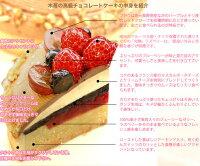 バースデーケーキ誕生日ケーキ高級チョコレートケーキ
