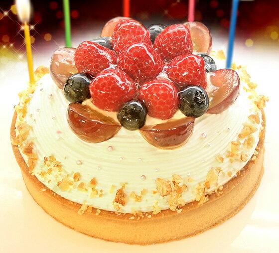 【一日5台限定】木苺のホワイトバースデーケーキ14cmバースデーケーキ 誕生日ケーキ クリスマスケーキ 苺 スイーツ ケーキ ギフト プレゼント 御祝い 結婚記念日 プレート・キャンドル5本無料