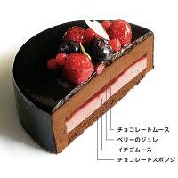 フルーティーチョコレートケーキの中身