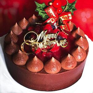 クリスマスケーキ 予約 2020 チョコレートケーキ with Crimson berry 14cm チョコレートケーキ xmasケーキ ホールケーキ ケーキ スイーツ ギフト 誕生日 バースデー 大人 子供 華やか お取り寄せスイ