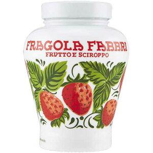 ファブリ フラーゴラ シロップ漬け 600g エキストラヘビー (瓶)|イタリア フラーゴラ 苺 イチゴ シロップ漬け シロップ 製菓材料 アイス お菓子 ケーキ
