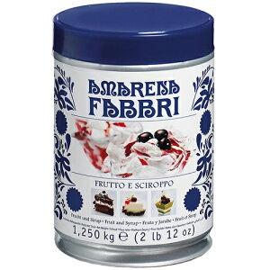 ファブリ アマレーナ(チェリー)シロップ漬 1250g(缶)固形量500g|イタリア シロップ 製菓材料 アイス お菓子 ケーキ