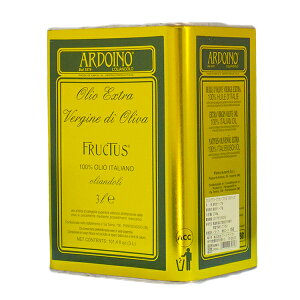 【3L缶】 アルドイーノ EXV オリーブオイル フルクトゥス 3L | Ardoino Olio EXV di Olive (品種:レッチーノ、フラントイオ、タジャスカ、ビアンコリッラ) 自然沈殿で分離した上澄みのみを瓶詰め