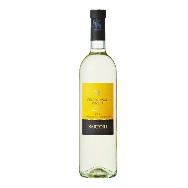 【よりどり6本以上、送料無料】Sartori Chardonnay Organic venetoIGT サルトーリ シャルドネ オーガニック 750ml 【16P03Nove15】