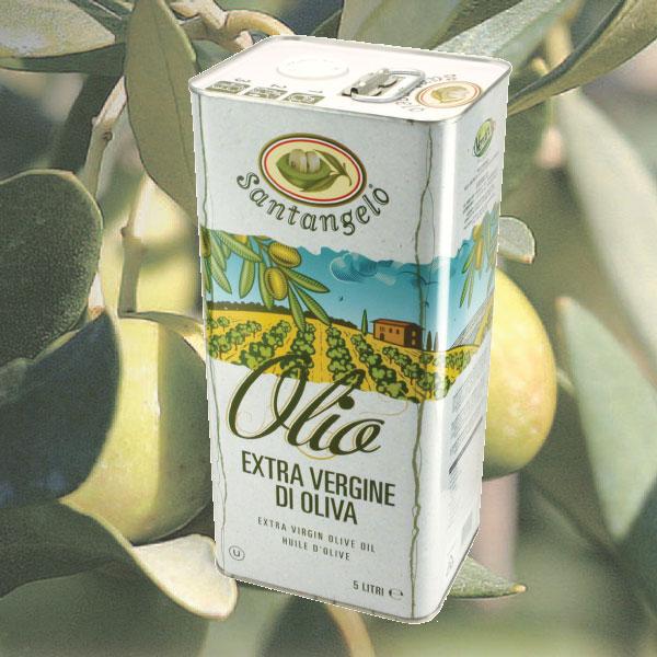 サンタンジェロ エキストラバージン オリーブオイル 5L 缶 イタリア ラツィオ産